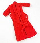 Robe: Women's Red Fleece