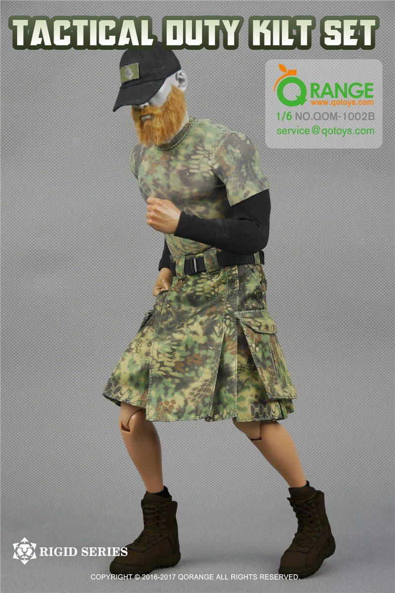 Tactical Duty Kilt Outfit Set Camo Male Civilian