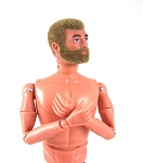 Action Man 40th Anniv. Nude, Blonde Fuzzy w/Beard, Classic Hands**