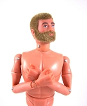 Action Man 40th Anniv. Nude, Blonde Fuzzy w/Beard Gripping