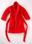 Robe: Men's Red Fleece