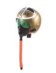 Gold Fighter Pilot Helmet with White & Black Stenciling