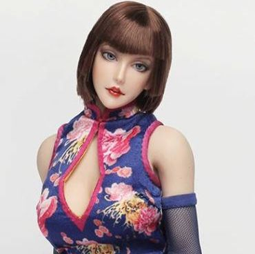 Anna Head Sculpt<br>with Blue Asian-Style Outfit<br><b>Save $10!!</b>