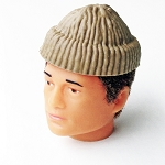 Molded Knit Cap, Tan (Atomic Man Style)<br><b>25% Off!!</b>