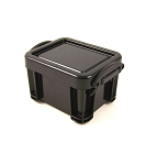 Plastic Crate with Lid (Black)