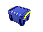 Plastic Crate with Lid (Blue)