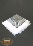 Black and White Shemagh Scarf