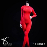 Female Bodysuit with Sleeves (Red)<BR>PRE-ORDER: ETA Q2 2019