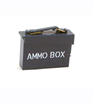 Navy Ammo Box with Stenciling<br><b>25% Off!</b>
