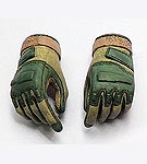 Blackhawk Style Tactical Gloves (green/tan)<BR>