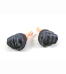Black Tactical Gloved Hands (Fists)<BR>