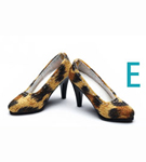 High Heel Shoes<BR>(Animal Print)<BR>