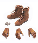 Female Military Boots & Gloved Hands (Brown)<br>