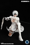 White Cosplay Outfit & Head Sculpt Set for Nier (Molded Hair) (1:12 Scale)<BR>PRE-ORDER: ETA Q1 2020