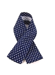 Scarf: Navy Blue with White Polkadots