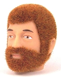 Head - Jake Red Fuzzy with Beard<BR>