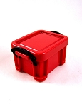 Plastic Crate with Lid (Red)