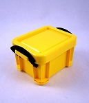 Plastic Crate with Lid (Bright Yellow)<BR>