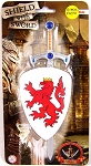Knight's Shield & Sword: White with Lion Rampant