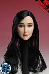 Asian Female Head Sculpt<BR>(long black hair)<BR>