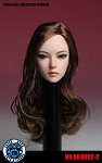 Asian Female<BR>Head Sculpt<BR>(Long Brunette Hair)<BR>