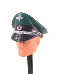 German Officer's Cap, Green, Action Man