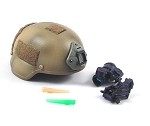 Helmet w/Night Vision Gear