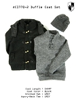 Black Duffle Coat Set (Short)<BR>