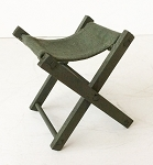 Folding Wooden Stool (Olive Drab, Painted)
