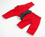 Short Sleeve/Leg Karate Outfit Set (Red)