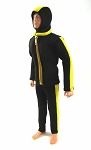 Black and Yellow Scuba Outfit Set (Metal Zipper)