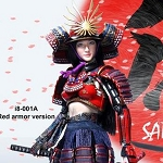 Female Samurai Figure Set (Red Armor)