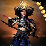 RIN: Female Samurai Figure Set (Black Armor)