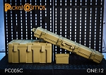 Weapons/Ammo Crate Assortment - Tan (1:12 Scale)