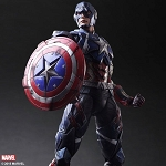 Play Arts Kai<BR>Captain America (1:7)