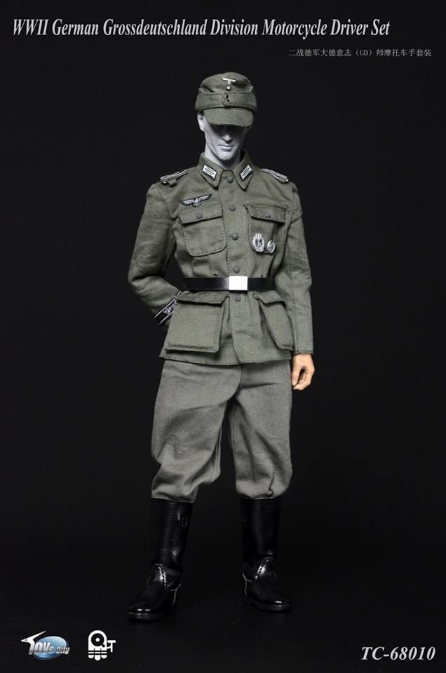 German Grossdeutschland Div Motorcycle Driver Uniform Set