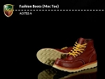Moc Toe Boots (Red/Brown)<BR>