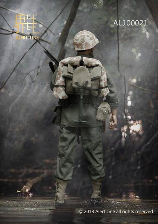 AlertLine AL100021 1//6 Scale WWII USMC BAR Pack Suspenders /& Ammo Belt Model