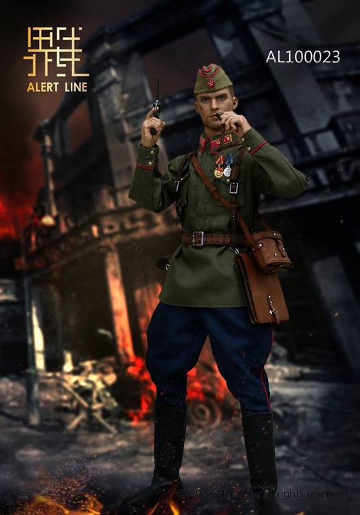 WWII Red Army Lt Officer AL100023 Winter Hat 1//6 Scale Alert Line Figures