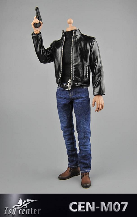 1//6 Scale Toy Undercover Agent Brown Leather Like Jacket