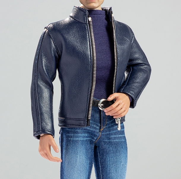 Men's 'Leather' Jacket Outfit<BR>Blue<BR>PRE-ORDER: ETA Q3 2019