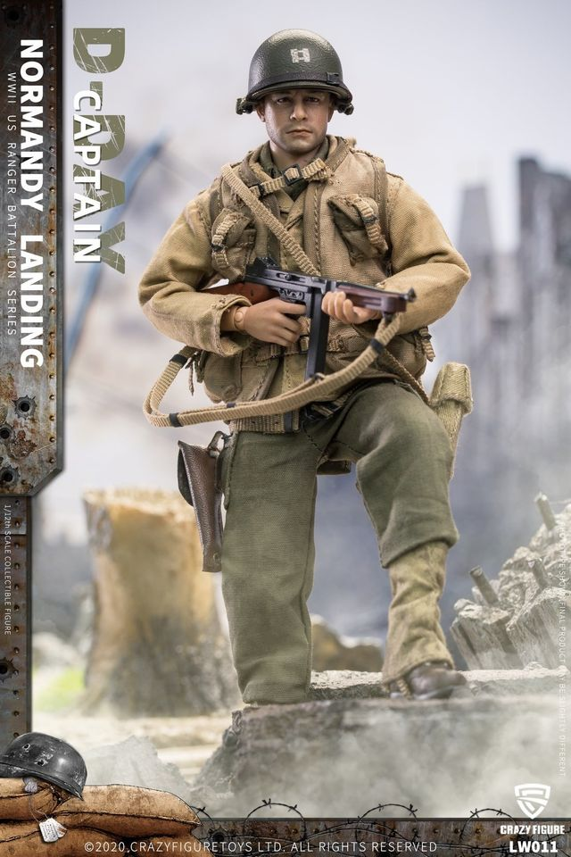 WWII US Army Captain, 2nd Rangers (1:12 Scale)<BR>PRE-ORDER: ETA Q2 2021