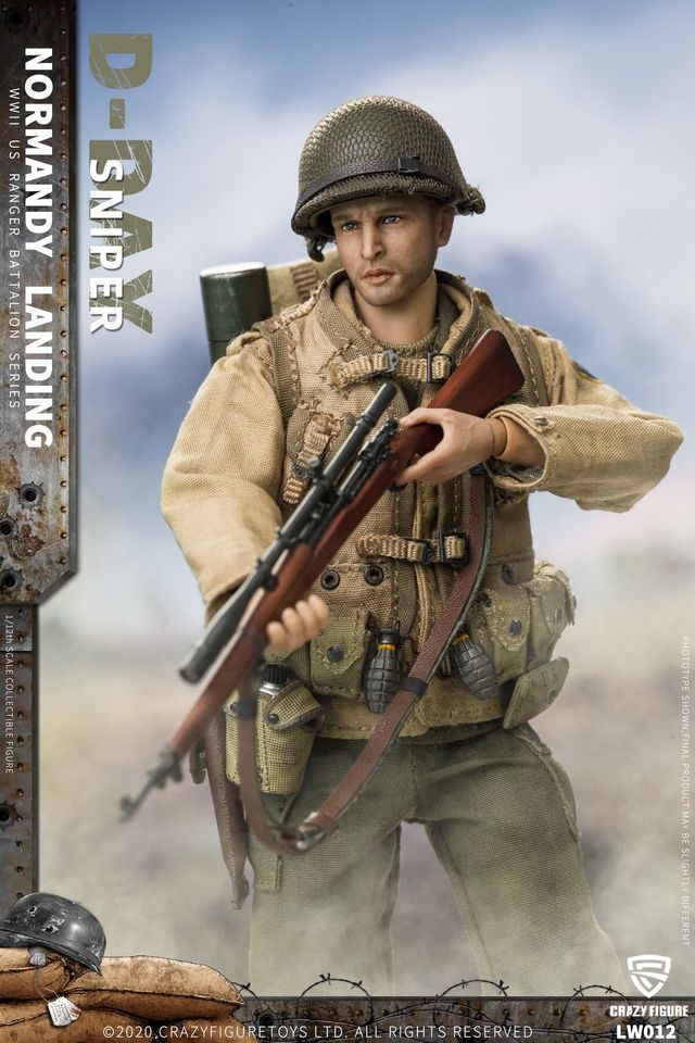 WWII US Army Sniper, 2nd Rangers (1:12 Scale)<BR>PRE-ORDER: ETA Q2 2021