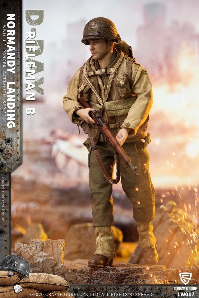 WWII US Army Rifleman, 2nd Rangers (Version B /1:12 Scale)<BR>PRE-ORDER: ETA Q2 2021