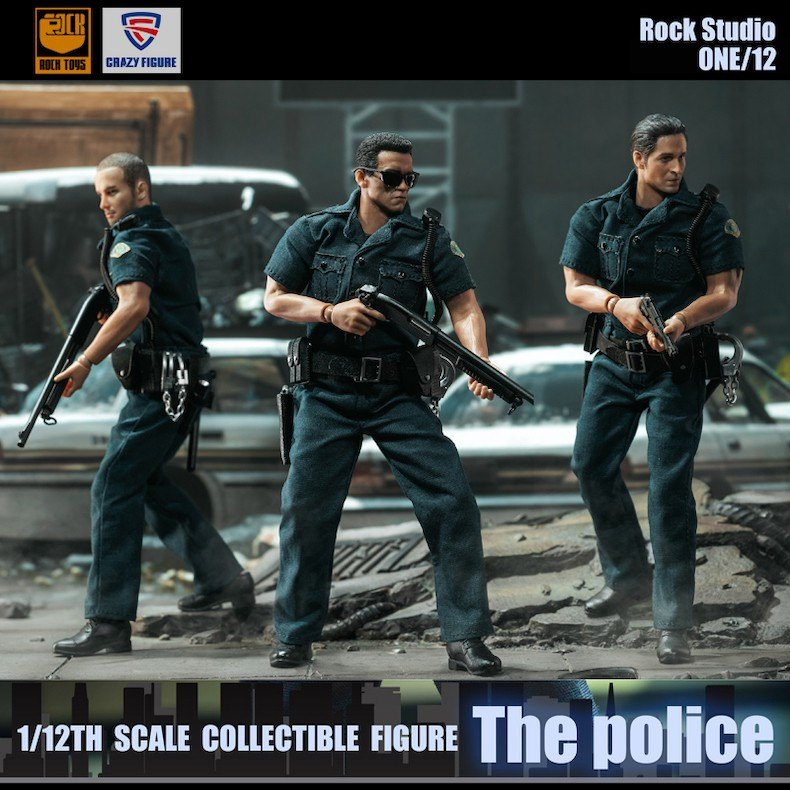 City Police Set (1:12 Scale)<BR>PRE-ORDER: ETA Q4 2020