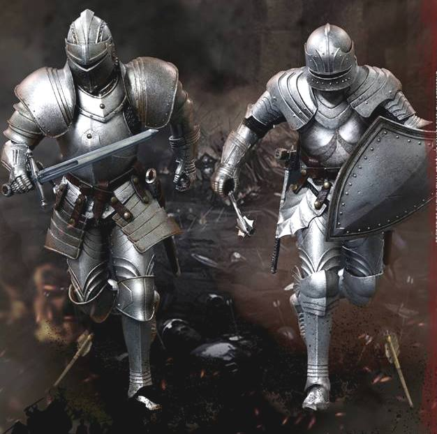 Palm Empires: Bodyguard Knight Double Figure Set<br>(1:12 Scale)<BR>PRE-ORDER: ETA Q3 2019