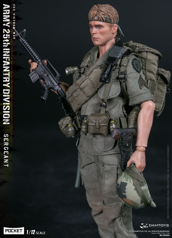 US Army 25th Infantry Division Sergeant (Vietnam)<BR>(1:12 Scale Pocket Elite)<BR>PRE-ORDER: ETA Q2 2020
