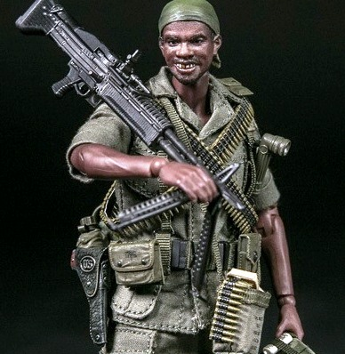 US Army 25th Infantry Division M60 Gunner (Vietnam)<BR>(1:12 Scale Pocket Elite)<BR>PRE-ORDER: ETA Q2 2020