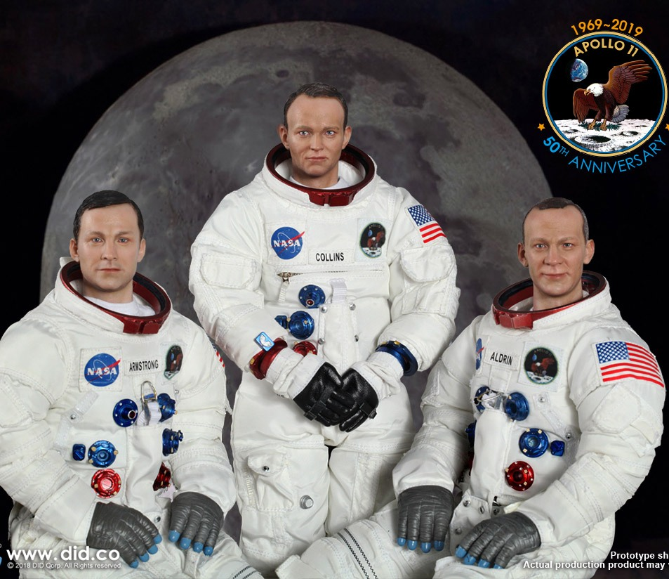 Apollo 11: 50th Anniversary 3-Figure Set<BR>PRE-ORDER: ETA Q4 2019