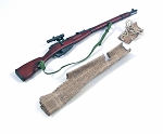 Russian Mosin Nagant Sniper Rifle w/Burlap Cover<br>